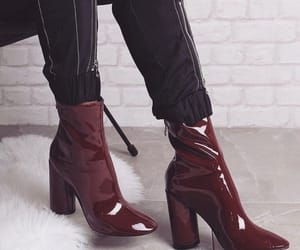 fashion, red, and boots image