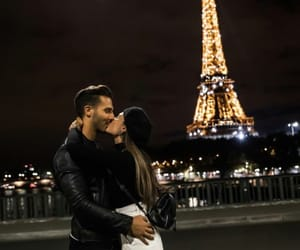 couple, beautiful, and paris image