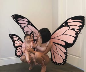 baby, kylie jenner, and butterflies image