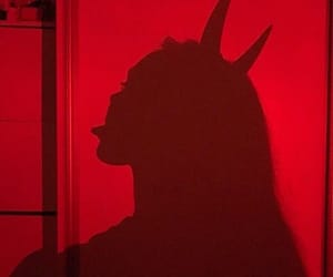 red, Devil, and girl image