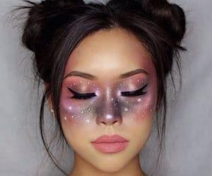 makeup and galaxy image