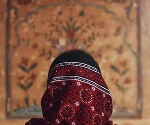 back, hijab, and ethnic image