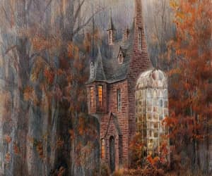 autumn, fairy tale, and house image