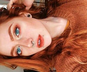 alt girl, eyes, and orange hair image