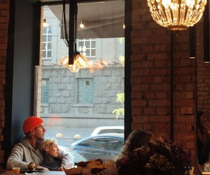 cafe, coffee, and couple image