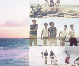 beach, sunset, and what makes you beautiful image