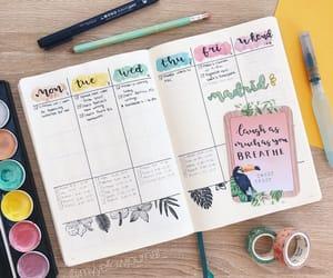 agenda, journaling, and pastel image