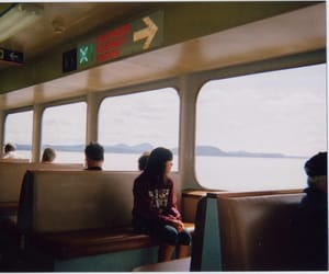 girl, train, and lonely image