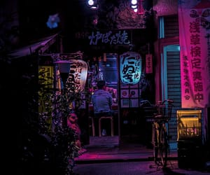 night, japan, and neon image