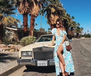 car, palm springs, and summer image