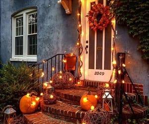 pumpkin, Halloween, and lights image