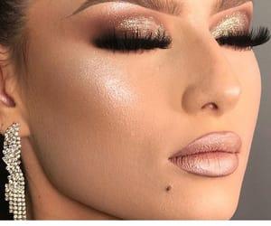 beauty, make up, and fake lashes image