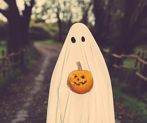 Halloween, carved pumpkin, and ghost image