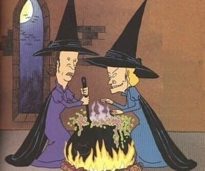 witch, Halloween, and beavis and butthead image