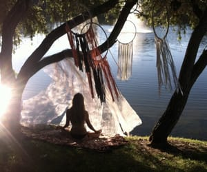 dreams, hippies, and meditate image