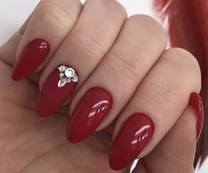 christmas, nails, and red nails image