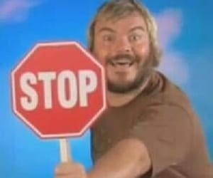 reaction, jack black, and stop image
