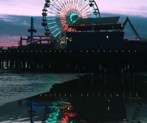 california, santa monica pier, and ferris wheel image