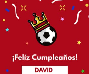 birthday, david, and futbol soccer image