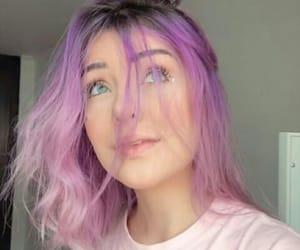 icons, purple, and hair purple image