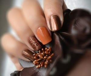 nails, autumn, and belleza image