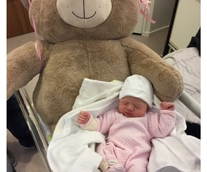 baby, teddybear, and cute image