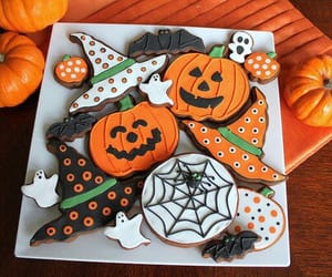 Halloween, pumpkin, and Cookies image