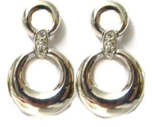etsy, boucles d'oreilles, and métal argenté image