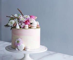 birthday, cake, and flowers image