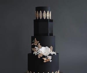 birthday, black, and flowers image