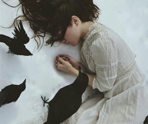 photography, crow, and fantasy image