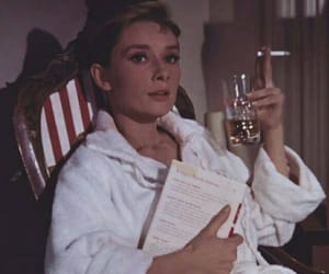 audrey hepburn, cigarette, and icon image