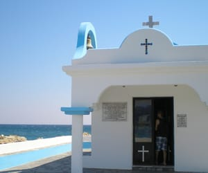 blue, rhodes, and Greece image