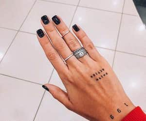 accessories, nails, and tattoo image