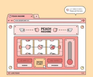 peach, aesthetic, and wallpaper image