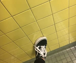 aesthetic, vans, and yellow image