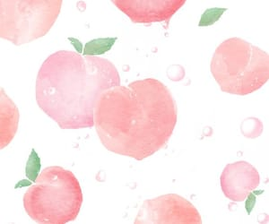 peach and wallpaper image