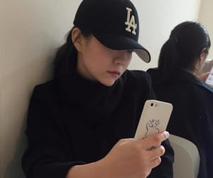 aesthetic, asian girls, and cap image