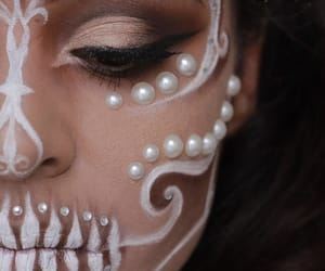 Halloween, makeup, and love image