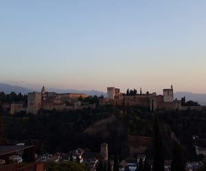 Alhambra, andalucia, and sunset image