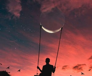 wallpaper, moon, and sky image