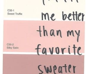 sweater, quotes, and pink image