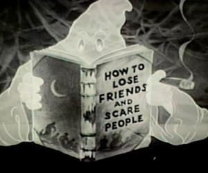 ghost, book, and friends image