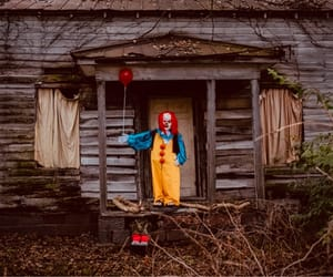autumn, clown, and creepy image