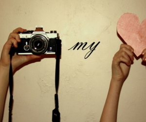 camera, heart, and love image