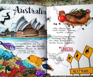 australia, drawing, and travel image