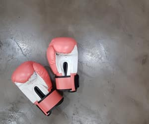 boxing, pink, and strong image