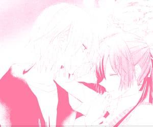 pink manga, pink aesthetic, and manga aesthetic image