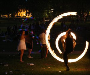 circle, fire, and oslo image