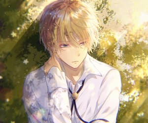 anime, blonde, and boy image